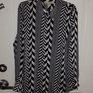 Michael Kors button down silky shirt